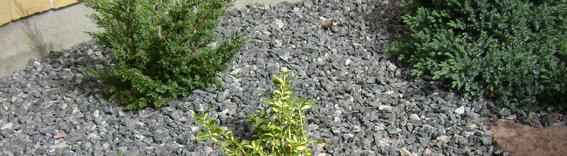 Granitskærver gråmix grus af svenske klippestykker