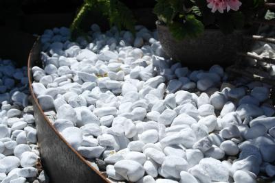 salg af 25 kg hvide italienske marmorsten