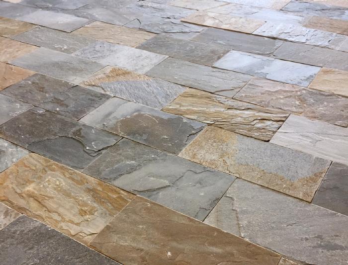 Køb Skiferfliser gulvfliser - Lys colormix 30 x 60 x 1,2-2,0 cm - Pris pr. m2 - Fliser i granit ...