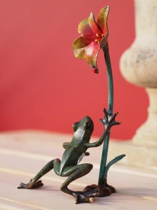 salg af Frø med en blomst