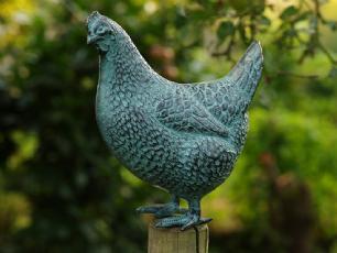 salg af Høne i bronze