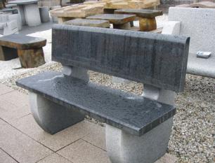 salg af Poleret granitb�nk med rygl�n