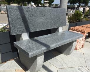 salg af Poleret granitbænk med ryglæn