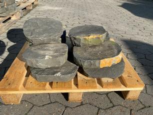 salg af Basalt kløvet trædesten