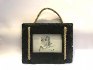 salg af Billedramme i sort skifer og reb