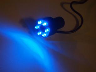 salg af Komplet blåt LED lys til vandsten m/trafo