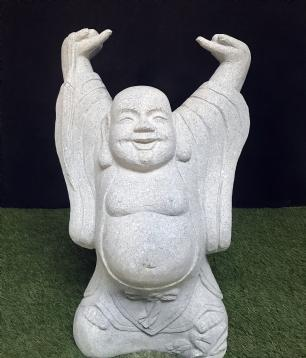 salg af Buddha i grå granit
