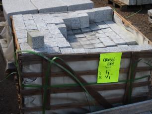 salg af Chaussésten - lille granitflise