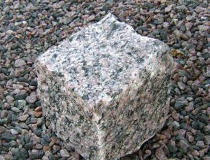 salg af Chaussesten i rød granit