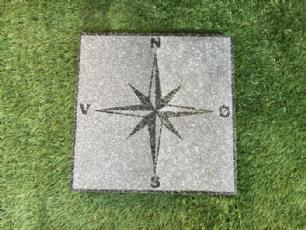 salg af Flise med kompas