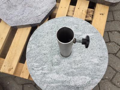Parasolfod granit sten markedsparasol