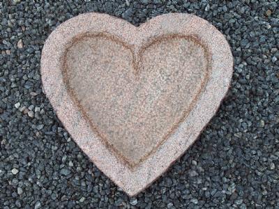 salg af Fuglebad hjerteform