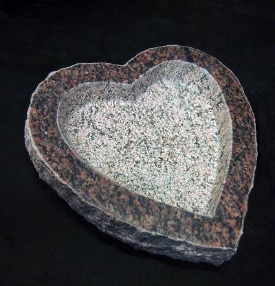salg af Fuglebad hjerteformet rød