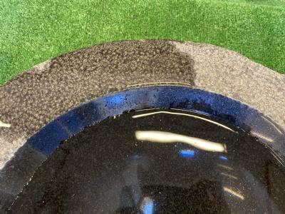 fuglebad sort poleret skål