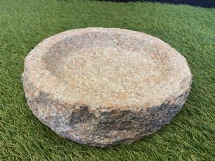 salg af Fuglebad rund rosa granit