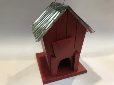 rødt fuglehus bagside