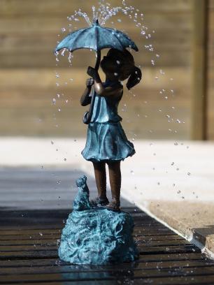 salg af Pige i regnvejr med paraply