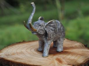 salg af Grå bronze elefant