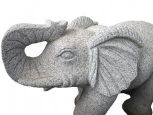 salg af Elefant i grå granit