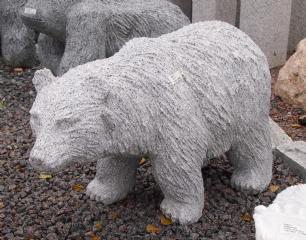 salg af Isbjørn i lysgrå granit