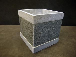 """salg af Granit plantekumme """"Square"""" 30x30x30 cm"""