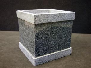 """salg af Granit plantekumme """"Square"""" 20x20x20 cm"""