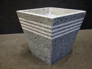 """salg af Granit Plantekumme """"Strib"""" 20x20x20 cm"""
