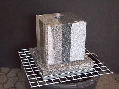 Granit vandsten Ying-Yang - Komplet