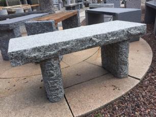 salg af Granitbænk - Rustik grå havebænk
