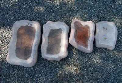 Fuglebad i indisk rødlig granit