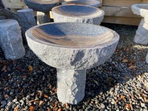 salg af Granitfuglebad rund m/poleret sk�l