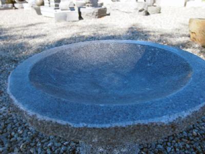 Granitfuglebad med poleret skål Ø: 35