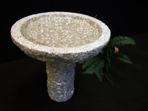 salg af Granitfuglebad rund på sokkel
