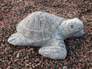 salg af Granitskildpadde i lys grå granit