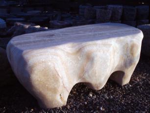 salg af Havebænk i onyx marmor