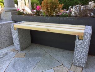 salg af Havebænk - sten med planker