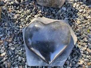 salg af Hjerte basalt poleret