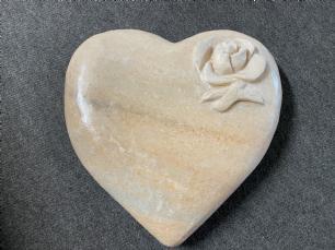 salg af Hjerte marmor med blomst