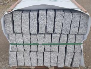 salg af Kantsten - palisadesten - grå granit