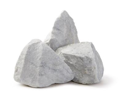 salg af Klippestykker hvide marmor 10-20 cm