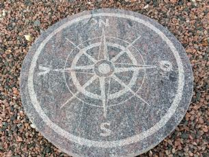 salg af Kompas sten Nord Syd Øst Vest
