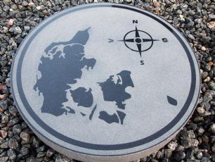 salg af Sort kompassten Danmarkskort