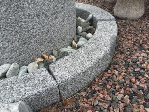 salg af Plante- eller bålring - gråsort granit