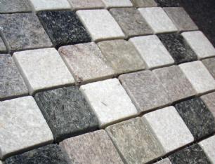 salg af Mosaik fliser i kvarsit 3,5 x 3,5 p� net