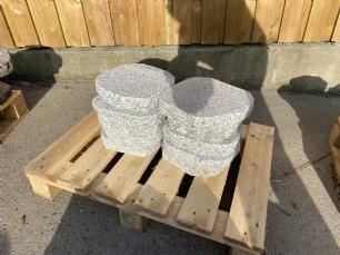 salg af REST granit trædesten lysgrå 25x25