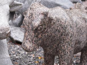 salg af Rød ko, poleret granit