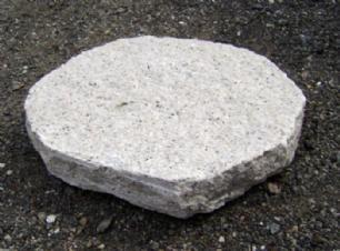 salg af Rosa granit trædesten 25 x 25