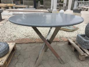 salg af Rundt havebord med granitplade