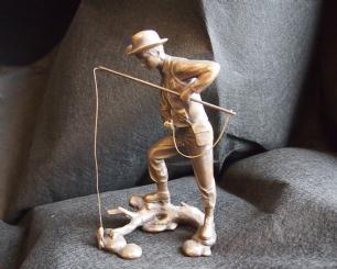 """salg af Bronzeskulptur """"Fisker"""""""