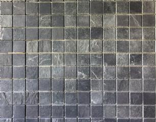 salg af Sort skifermosaik på net 4,8 x 4,8 x 1-1,2 cm
